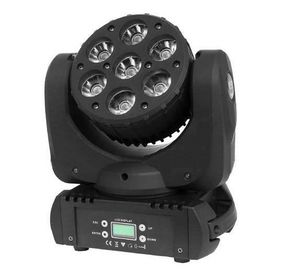 Chiny Wesele Sharpy Disco Stage Lighting 7 * 10W, RGBW 4w1 LED Mini Beam Moving Head dostawca